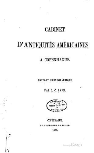 Download Cabinet d'antiquités américaines à Copenhague.