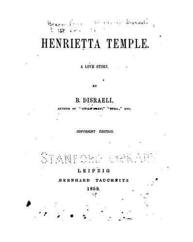 Download Henrietta Temple: A Love Story