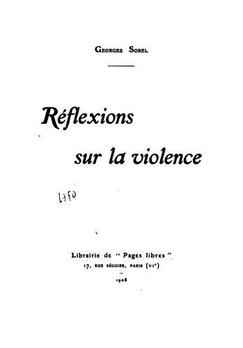 Download Réflexions sur la violence.