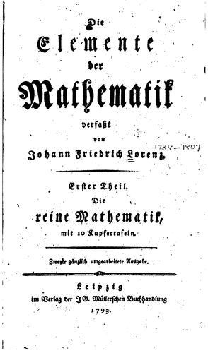 Die Elemente der Mathematik