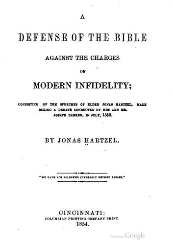 Download A defense of the Bible against the charges of modern infidelity
