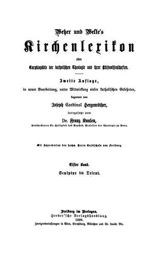 Wetzer und Welte's Kirchenlexikon