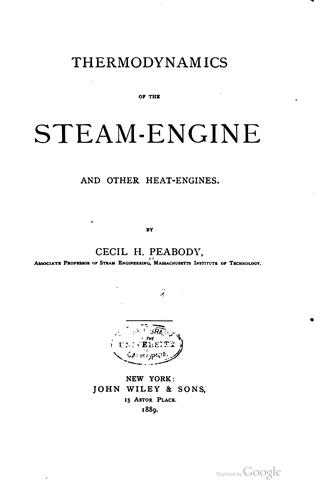 Thermodynamics of the steam-engine and other heat-engines.