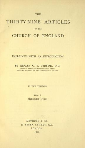 Download The Thirty-nine Articles of the Church of England