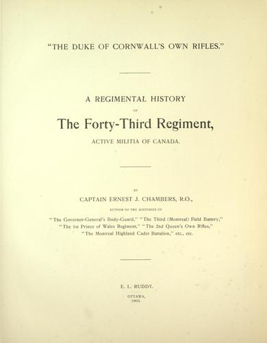 "Download ""The Duke of Cornwall's Own Rifles"""