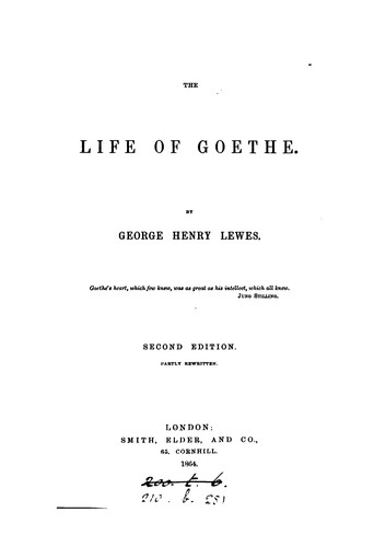 Download The life of Goethe.