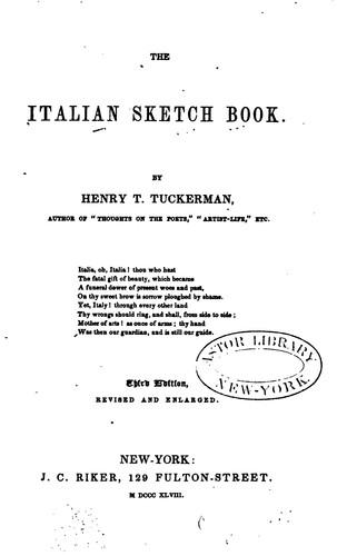 The Italian sketch book