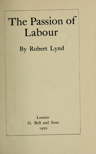 Download The passion of labour