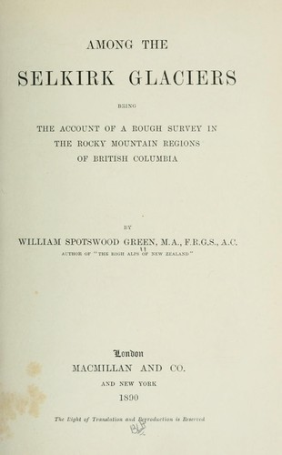 Download Among the Selkirk glaciers