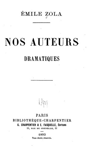 Download Nos auteurs dramatiques