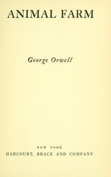 Cover of: Animal farm | George Orwell
