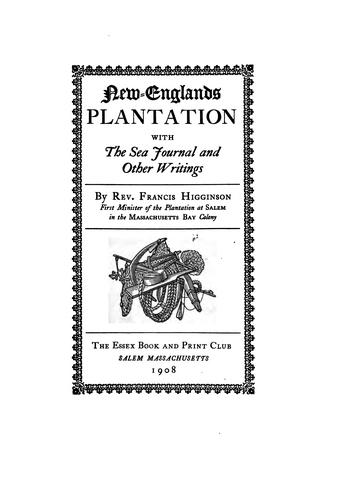 New-Englands plantation